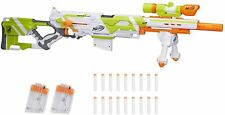 Longstrike Nerf Modulus Toy Blaster with Barrel Extension, Bipod, Scope, 3 Clips