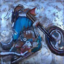 "Quality 3D Metal Wall Art ""The Street Bike""  Shipping Guarantee: Max $35"
