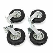 810 4pcs Pneumatic Air Tire Wheels 2 Rigid 2 Swivel Hd Farm Cart Caster