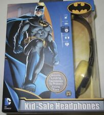 Batman Kid Safe Headphones DC Comics Adjustable Over Ear 85DB Warner Brothers
