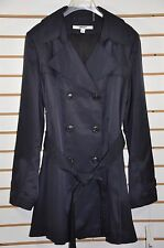 NWT Women's DKNY Double Breasted Trench Coat with Detachable Hood. Sz.XL- NAVY