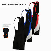Mens Performance Cycling Bib Shorts Coolmax? Padded Cycle Pants Shorts