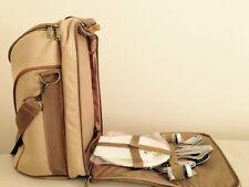 Wildlife Khaki Picnic Hand / Shoulder Bag Set Of 13  Insulated Cooler Backpack