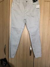 Ladies  Striped Skinny Jeans Size 16 BNWT