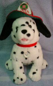 1996 Dayton Hudson Flash the Dog Plush Dalmatian  Santa Bear Fireman Friend