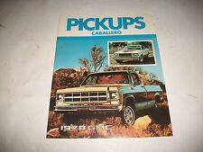 1978 GMC PICKUPS CABALLERO SALES BROCHURE CANADIAN ISSUE CLEAN NO DEALER STAMP