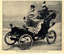 Seehundsfell & Silberfuchs für Frauen im Automobilsport  Bilddokument 1900