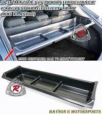 Trunk Cargo Storage Shelf Tray (ABS) Fits 14-18 Mazda 3 5dr Hatch