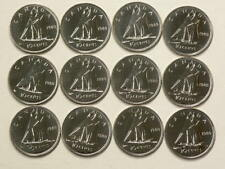 1980 Canada 10 Cents Lot of 12 Uncirculated Specimen #693