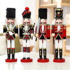 Scotland Bagpipe Walnut Soldiers Christmas Ornaments Sword Gun Wooden Nutcracker