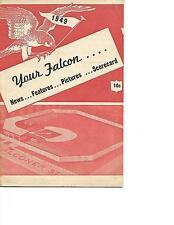 1949 Jamestown Falcons-Batavia Clippers PONY League Program RARE!!