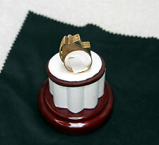 Antique Arte Orfebre Peruvian Uniquely Shaped Ring Highly Detailed Hand Made 10g