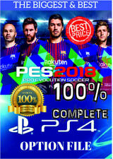 PES 2018 PS4 OPTION FILE PRO EVOLUTION SOCCER - 100% COMPLETE, INSTANT, SALE ON!