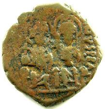 573-574 A.D. Jusin Ii & Sophia Renal Year 9 40 Nummi Sb-360 A Fine Plus Coin