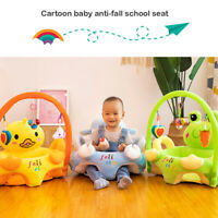 Cartoon Baby Sofa Support Seat Cover Learning To Sit Plush Chair w/o Filler