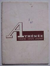 programme Athénée théâtre Louis Jouvet - Bon appétit monsieur - Gilbert Laporte