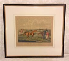 19th Century Horse Racing Lithograph Framed & Matted Engraved by H Alken & T S