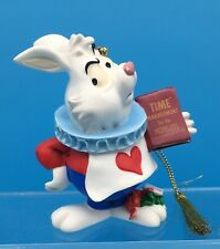 Vintage Disney WHITE RABBIT ORNAMENT • Alice in Wonderland •