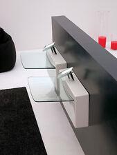 Lavandino Lavabo Sospeso Design Crystall Wall in ceramica e cristallo 70x52 cm