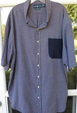 Polo Ralph Lauren 100% Cotton Blue Checks Pocket Casual Shirt 3XB XXXL Big Man