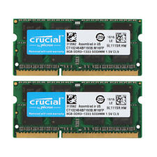 Crucial 16GB 2X 8GB PC3-10600S DDR3 1333MHz 2Rx8 Laptop Memory RAM So-dimm @BM