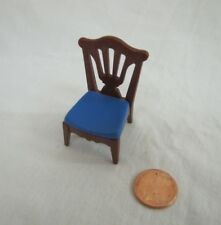 Vintage PLAYMOBIL BROWN BLUE CHAIR #5320 #5300 Victorian Mansion Dining Room