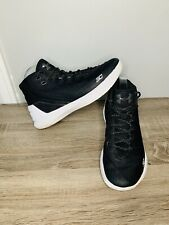 Under Armour Curry 3 High Top Basketball Sneakers Shoes Black White Size 7Y Boys