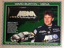 WARD BURTON MBNA  THE OFFICIAL  RACING TEAM PATCH COLLECTION