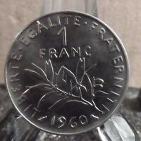CIRCULATED 1960 1 FRANC FRENCH COIN (32117)1