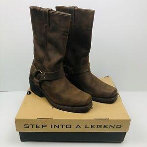 HARLEY DAVIDSON Women Brown Leather Riding Boots 85360 Hustin US 9 EU 40 NEW