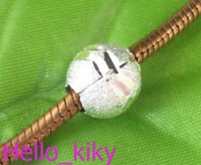 30Pcs Silver plated stardust Bead Fit Charm Bracelet M8296