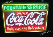 HUGE Coca-Coke-Cola Soda Drink Fountain Service REAL NEON SIGN BEER BAR LIGHT