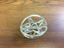 3D Clear Plastic Christmas Star Ornament