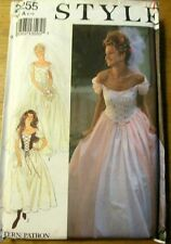 STYLE Sewing Pattern no. 2255 LADIES WEDDING DRESS size 6-16  UNCUT
