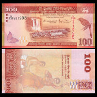 Sri Lanka 100 Rupees Banknote, 2016, P-125 new, UNC, Asia Paper Money