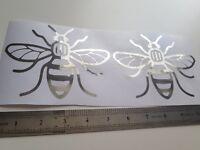 Manchester Bee x2 Chrome silver window bumper laptop decal sticker