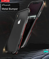 Luphie Hit Farbe Metall Schutz Hülle Case Cover Alu Rahmen f iPhone X XR XS Max