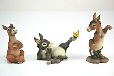 Pacific Giftware Donkey, Mule, Ceramic Figures. 3 Piece Set.