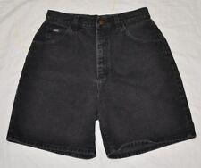 Womens Lee Black Jean Shorts 100% Cotton 12 Long
