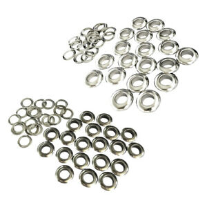 60 Sets 10mm Grommets Eyelets with Washer Beads for Cloth Leather Canvas