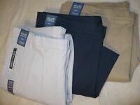 $59 NEW NWT R&Y MEN'S KHAKI DRESS PANTS BIG & TALL SIZE 44 46 48 29 30 32