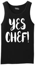 Mens Yes Chef Tank Top Dad Mom Wife Husband
