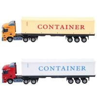 1:43 Alloy Construction Vehicle Model Simulation Container Truck Model Toy #gib