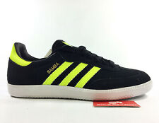 NEW adidas Originals SAMBA Q20604 Black Electricity Yellow White Mens Shoes s1