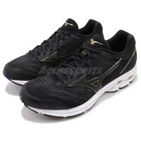 Mizuno Wave Rider 22 SW Super Wide Black Gold Men Running Shoes J1GC1832-09