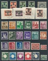 Lot Stamp Germany Poland WWII 3rd Reich Hitler Castle Buildings GG Dienst U CTO
