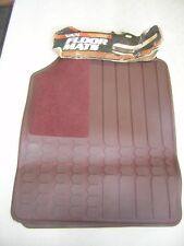 Automotive Van Floor Mats Maroon Fits Ford,Dodge,Chevy Vans 2pc. Made in USA NOS