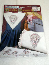 Vintage DAISY KINGDOM Fabric Transfers Cherubs # 12302 Halo of Flowers