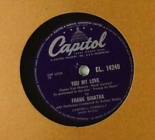 """10"""" Schellack - Frank Sinatra - You My Love / Just One Of Those Things - A179"""