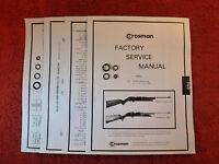 Crosman 760 Rifle (1966 to 1977) Seal Kit + Service Manual + Parts List + Guide
